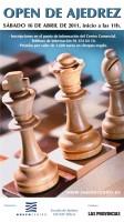 Cartel VI Open ajedrez Nuevo Centro